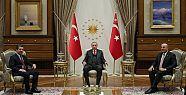 Erdoğan, Mesrur Barzani'yle görüştü