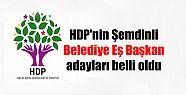 HDP'nin Şemdinli Belediye Eş Başkan adayları...