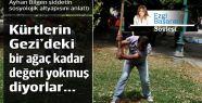 Kürtlerin Gezi'deki bir ağaç kadar değeri...
