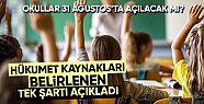 Reuters: Türkiye'de tüm okullar 31 Ağustos'ta...