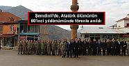 Şemdinli'de, Atatürk ölümünün 80'inci...