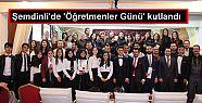 Şemdinli'de 'Öğretmenler Günü' etkinliklerle...