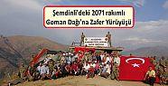 Şemdinli'deki 2071 rakımlı Goman Dağı'na...