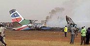 Sudan'da yolcu uçağı düştü: 19 kişi...