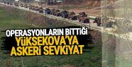 Yüksekova'ya yüzlerce araçlık askeri...