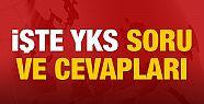 YKS soruları ve cevap anahtarı yayınlandı