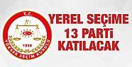 YSK açıkladı yerel seçimlere 13 parti...