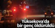Yüksekova'da bir genç açılan ateş sonucu...