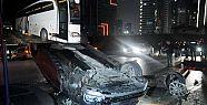 Zenit'i taşıyan otobüs Ankara'da kaza...