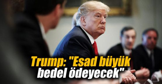 Trump: Esad büyük bedel ödeyecek
