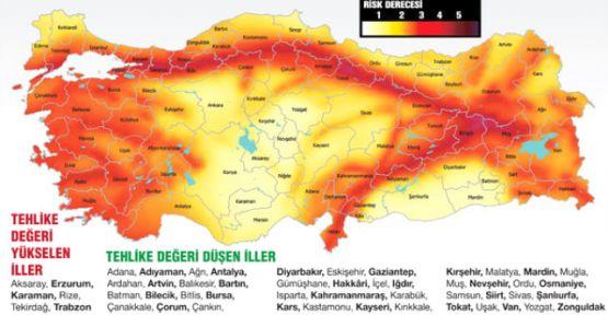 Türkiye'nin deprem haritası güncellendi: 6 ilde risk yükseldi