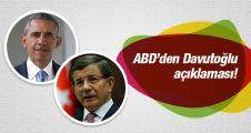 ABD'den 'Davutoğlu' açıklaması