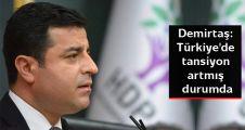 Demirtaş: Türkiye'de tansiyon artmış durumda