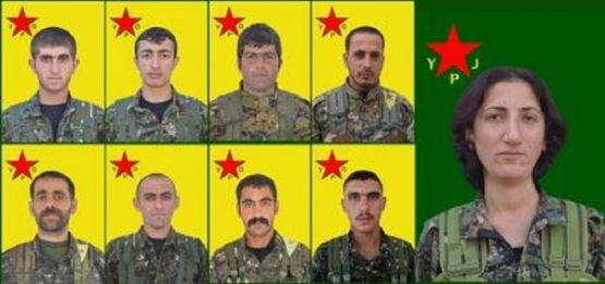 YPG 3'ü Yüksekovalı 9 YPG'linin kimliklerini açıkladı