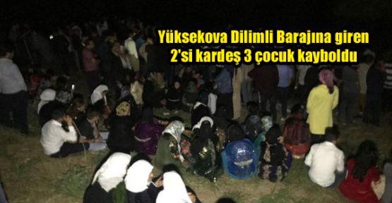 Yüksekova Dilimli Barajına giren 2'si kardeş 3 çocuk kayboldu
