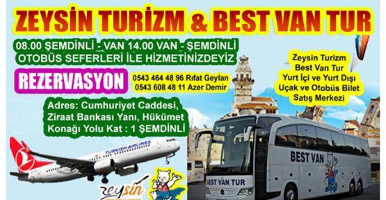 Zeysin Turizm & Best Van Tur Şemdinli Şubesi Hizmetinizde