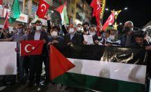 İsrail'in Mescid-i Aksa'ya ve Filistin'e saldırıları Şemdinli'de protesto edildi