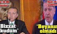 Erdoğan'dan 5 saat arayla 2 farklı açıklama