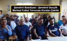 Şemdinli Belediyesi - Şemdinli Gençlik Merkezi Futbol Turnuvası Kuraları Çekildi