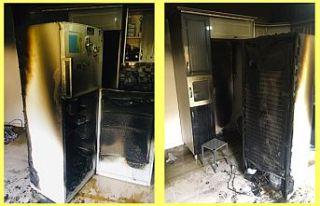 Şemdinli'de bir evde çıkan yangın maddi hasara...