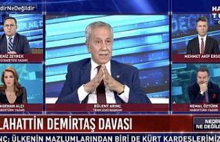Bülent Arınç: 'Demirtaş ve Kavala tahliye...