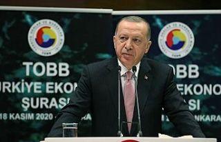 Erdoğan: Yüksek faize yatırımcımızı ezdirmemeliyiz