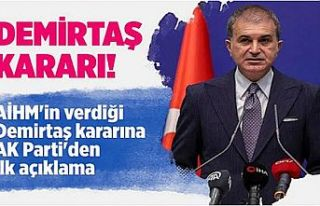 AK Parti Sözcüsü Ömer Çelik'ten AİHM'in...
