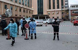 Gaziantep'teki özel bir hastanede oksijen tüpü...