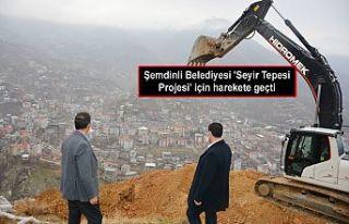 Şemdinli Belediyesi 'Seyir Tepesi Projesi'...