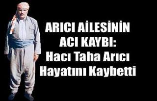 Şemdinli'de Vefat: Hacı Taha Arıcı Hayatını...