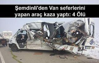 Şemdinli'den Van seferlerini yapan araç kaza...