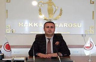Hakkari Barosu Başkanı Ergün Canan'dan gazeteciler...