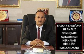 Şemdinli Belediye Başkanı Saklı'dan su analiz...