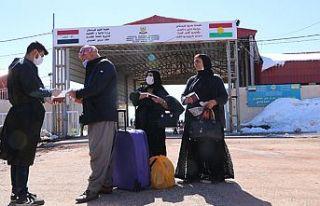 Üzümlü Sınır Kapısı'ndan Irak'a geçişler,...
