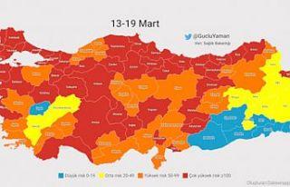 Covid-19 vaka haritası tamamen kırmızıya doğru...