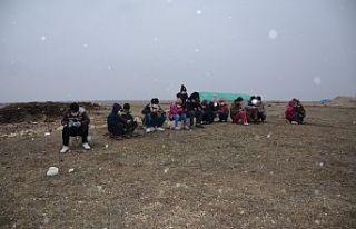 EBA için çadır kuran öğrencilere uydu internet...