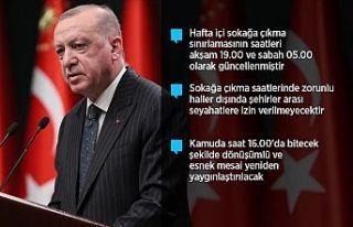 Erdoğan: İki hafta kısmi kapanma uygulamasına...