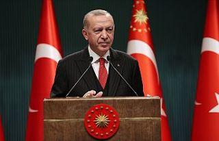 Erdoğan: Kontrollü normalleşme takvimi pazartesi...