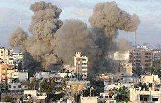 İsrail'in saldırıları sonucu Gazze'de...