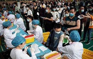 Çin'de yapılan Covid aşılarının sayısı...