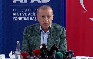 Erdoğan Antalya'da: Acil ihtiyaçlar için 50...