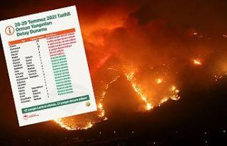 Tarım ve Orman Bakanlığı: 42 yangın kontrol altına...