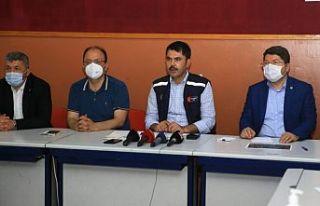 Bakan Kurum: Hasar tespitleri yapılmaya başlandı'
