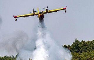 Kahramanmaraş'ta yangın söndürme uçağı...