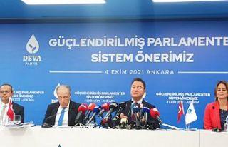 DEVA'nın 'parlamenter sistem' önerileri:...