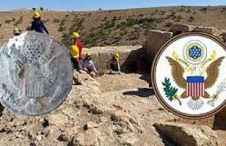 Diyarbakır'daki Zerzevan Kalesi kazısında...