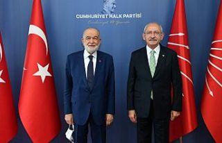 Kemal Kılıçdaroğlu ve Temel Karamollaoğlu buluştu