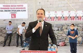 Yeniden Refah Partisi Genel Başkanı Fatih Erbakan,...
