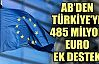 AB'den Türkiye'ye 485 milyon euro ek destek