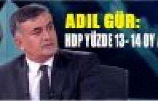 Adil Gür: HDP yüzde 13- 14 oy alır